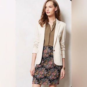 Anthropologie Heathered Dotside Elbowpad Blazer